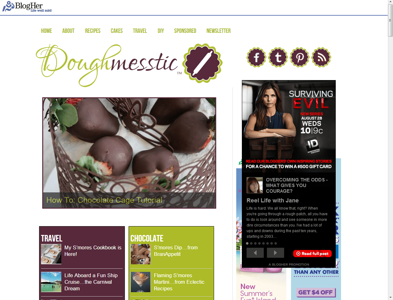 She's Becoming Doughmesstic Website redesign